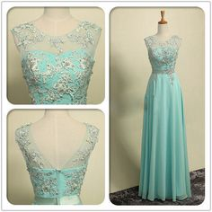Embroidery Chiffon Skirt Formal Prom Dress,Tiffany Blue Zipper Back Bridesmaid Dresses,Bridesmaid Formal Dresses with Sash