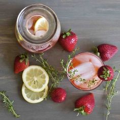 Make over your basic summer drinks with flavor-infused simple syrups! Create refreshing beverages like Strawberry-Thyme Lemonade!