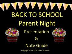 Back to School - Parent Night Presentation Prezi