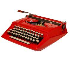 Red Remington Starfire Typewriter