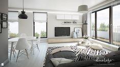 Apartament na Powiślu, 62,9 m². - zdjęcie od Decoroso Architektura Wnętrz - Salon - Styl Skandynawski - Decoroso Architektura Wnętrz