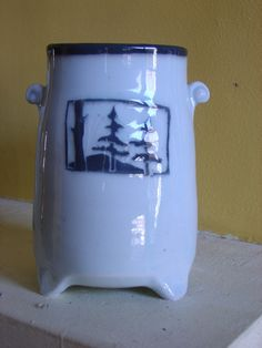 How to make picture vases with Sgraffito