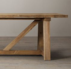 """Salvaged Wood Beam Rectangular Extension Table 72"""" Table seats up to 8 with extensions, up to 6 without (72""""w 40""""w x 30""""ht)"""