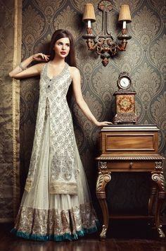 Look stunning in this amazing Pakistani bridal wear collection! Pakistani Wedding Dresses, Pakistani Bridal, Pakistani Outfits, Indian Dresses, Indian Outfits, Bridal Dresses, Party Dresses, Bridal Lehenga, Long Dresses