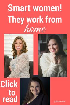 Working from home as your own boss, gives you the freedom to enjoy what you do. Read how three women do it every day and how you can too.