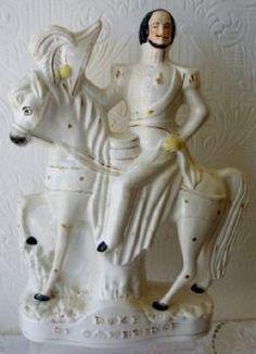 "An Antique English Victorian Staffordshire Pottery Royal Portrait Figure ~ ""Duke of Cambridge"" ~ P C158 ~ H 722 ~ Stock Ref. AEVSRPFDOCH722-4 ~ BUY IT NOW at www.applecrossantiques.com"