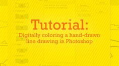 Tutorial :: Digitally coloring a hand-drawn line drawing in Photoshop