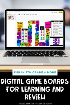 Check out this blog post about how to use digital game boards to review and teach in the classroom!  Gamifying teaching is definitely a great way to engage your students and make learning fun!  Learn how to effectively use digital game boards in your upper elementary classroom! Find some digital, Google-friendly versions of the games that can be shared with students through online means. Each game includes a Google-integrated gameboard that can be played using Google slides and a pdf!