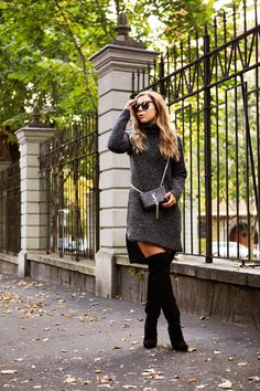 Sweater Dress & Over The Knee Boots - Alexa Dagmar : Alexa Dagmar