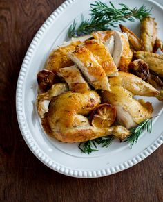 Meyer Lemon & Rosemary Oven Roast Chicken