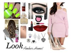"""""""Look Amber Home"""" by sumoraeszanna on Polyvore featuring moda, Sophia Webster, MAC Cosmetics, Bobbi Brown Cosmetics, Burberry, Marc by Marc Jacobs, Anastasia Beverly Hills, NARS Cosmetics, T3 e Batiste"""