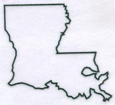 louisiana state outline tattoo - Google Search