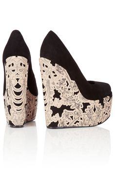 Chloe Lace Wedges ♥✤ www.SocietyOfWomenWhoLoveShoes.org https://www.facebook.com/SWWLS.Dallas Instagram @SocietyOfWomenWhoLoveShoes Twitter @ThePowerOfShoes