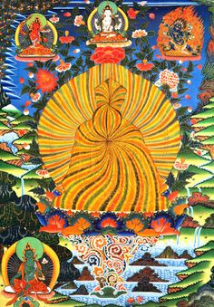 Guru of the rainbow body phase (Rainbow body of Guru Rinpoche Padmasambhava)