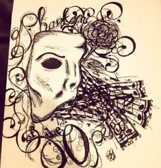 A drawing I did a little while ago while watching Phantom of the Opera :)