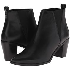 Dune London Preslee Women's Shoes ($200) ❤ liked on Polyvore featuring shoes, boots, ankle booties, ankle boots, slip on boots, short boots, pointed toe booties and leather bootie