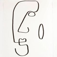 line art drawings simple Art Sketches, Art Drawings, Abstract Faces, Wire Art, Artist Art, Line Drawing, Art Inspo, Mail Art, Modern Art