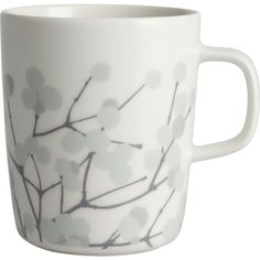 Marimekko Lumimarja Grey and Ecru Mug in Kitchen and Table | Crate and Barrel