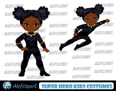 Etsy :: Your place to buy and sell all things handmade Superhero Classroom, Superhero Kids, Black Cartoon, Cartoon Kids, Cartoon Faces, Superhero Clipart, Simple Collage, Software, Girl Clipart