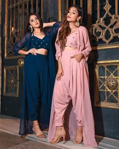 Indo-Western Outfits To Wear At Weddings Inspired By Fashion Bloggers | ShaadiSaga Party Wear Indian Dresses, Designer Party Wear Dresses, Indian Gowns Dresses, Dress Indian Style, Indian Fashion Dresses, Indian Wedding Outfits, Indian Designer Outfits, Indian Outfits, Bridal Dresses
