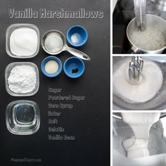 Making Mini Vanilla Marshmallows.  Easy and so fun to make with your little ones.