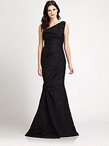 David Meister - Asymmetrical Gown