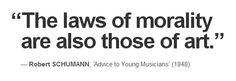 Robert SCHUMANN, 'Advice to Young Musicians' (1848)