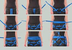 This is one way to create climbing harness.