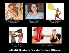 Funniest Lady Kickboxing Poster Ever! It's just funny. These were going around a lot and I decided to make our own. What do you think?