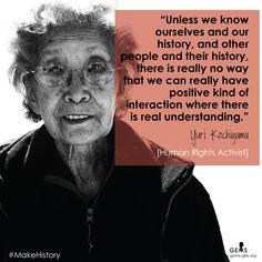 Yuri Kochiyama quote for Womens History Month #MakeHistory by Girls Educational and Mentoring Services