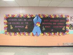 Autism Awareness bulletin board for the parent center. Autism Awareness Month, Disability Awareness, Kids Education, Special Education, Class Bulletin Boards, Social Skills Autism, Puzzle Crafts, Autism Quotes, School