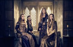 From left: Jodie Comer as Elizabeth of York, Rebecca Benson as Margaret Plantagenet, Essie Davis as Dowager Queen Elizabeth and Suki Waterhouse as Cecily of York in The White Princess Elizabeth Of York, Princess Elizabeth, White Queen Costume, Elizabeth Woodville, The White Princess, Wars Of The Roses, Princess Photo, Jodie Comer, Historical Costume