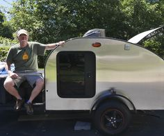 I have built a Teardrop trailer and will post the steps that I took to construct this camper. These units are easy to build and economical to tow and operate. No matter where I go there is always a camp ground around near where I want to be.