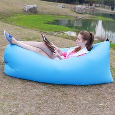 Out Sleeping Bag cm Airbags Lazy Sofa Inflatable Air Sofa Bed Lazy Bones Beach Lounge Foldable Camping Fast Sleeping Bed