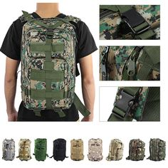 Outdoor Tactical Backpack Military Army Trekking Sport Travel Rucksack Camping Hiking Camouflage Bag