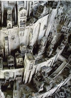 Minas Tirith, White City of Gondor ~ Lord of the Rings Gandalf, Legolas, Aragorn, Fellowship Of The Ring, Lord Of The Rings, Narnia, Minas Tirith, John Howe, Between Two Worlds
