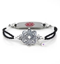"""Eden Medical ID Bracelet from Lauren's Hope.com   So nice to have beautiful """"jewelry"""" for medical ID's - I own this and love it.  It was damaged once and I sent it back, they fixed it for no charge.  I love this company!"""