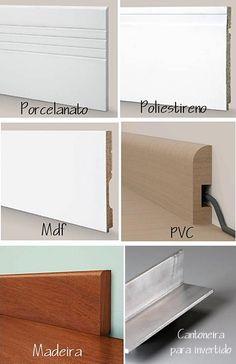 materiais rodapé Architecture Details, Interior Architecture, Home Interior Design, Interior Decorating, House Plants Decor, Home Projects, House Plans, Ikea, Furniture Design