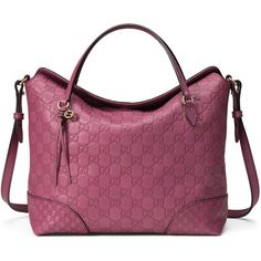 Gucci Bree Guccissima Leather Top Handle Bag (11.065 NOK) ❤ liked on Polyvore