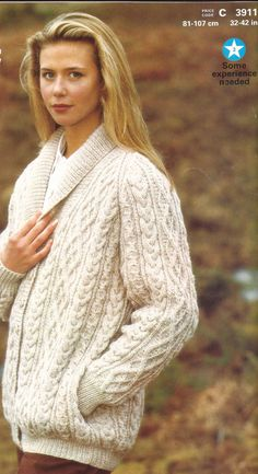 Aran Raglan jacket knitting pattern PDF on Etsy, £2.50