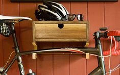 perfect place to put your bike tools and your helmet and still keep your bike off the floor...
