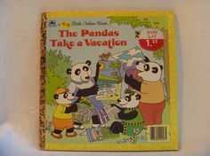 The Pandas Take A Vacation 1986 A Big Little by EauPleineVintage, $6.50