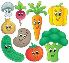 Vegetable theme collection 4 vector image on