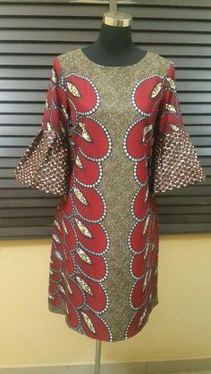 Another ankara inspired tunic. #Available