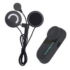 Soft Earphone + FM! 1pcs HiFi 1000M Motorcycle Headphone Wireless Bluetooth Intercom Interphone Helmet Headset for Cellphone&GPS