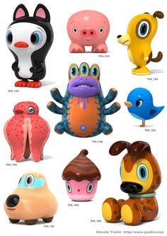 Crazy Kawaii Figures By Hiroshi Yoshii | Hawaii Kawaii Blog