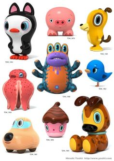 Crazy Kawaii Figures By Hiroshi Yoshii