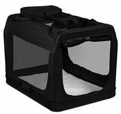 OxGord Dog Crate Soft Sided Pet Carrier Foldable Portable Soft Pet Crate Training Kennel Great for Indoor or Outdoor, Black Diy Dog Crate, Dog Training Pads, Crate Training, Soft Sided Dog Crate, Portable Dog Crate, Airline Pet Carrier, Cat Cages, Bed Pads