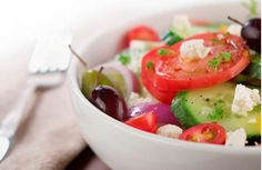 Chicken Greek Salad #Recipe - Serve as a salad or fill pita halves for a meal on the run! It makes a light and easy meal! #Recipe #Chicken #EasyRecipe #Healthy    For more tasty poultry recipes visit: grannys.ca