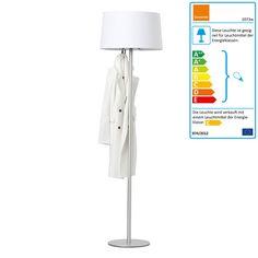 Cascando - Coat Lamp, Schirm weiß Verkehrsweiß (RAL 9016) H:187